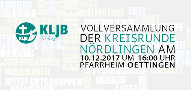Vollversammlung der Kreisrunde Nördlingen 2017