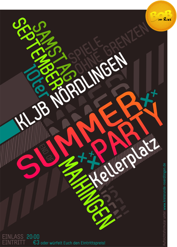 Flyer End of Summer Party